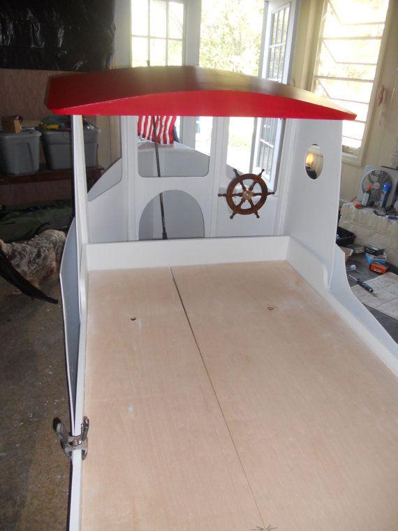 Children S Boat Bed Plans Etsy In 2020 Boat Bed Bed Plans Boat Building Plans