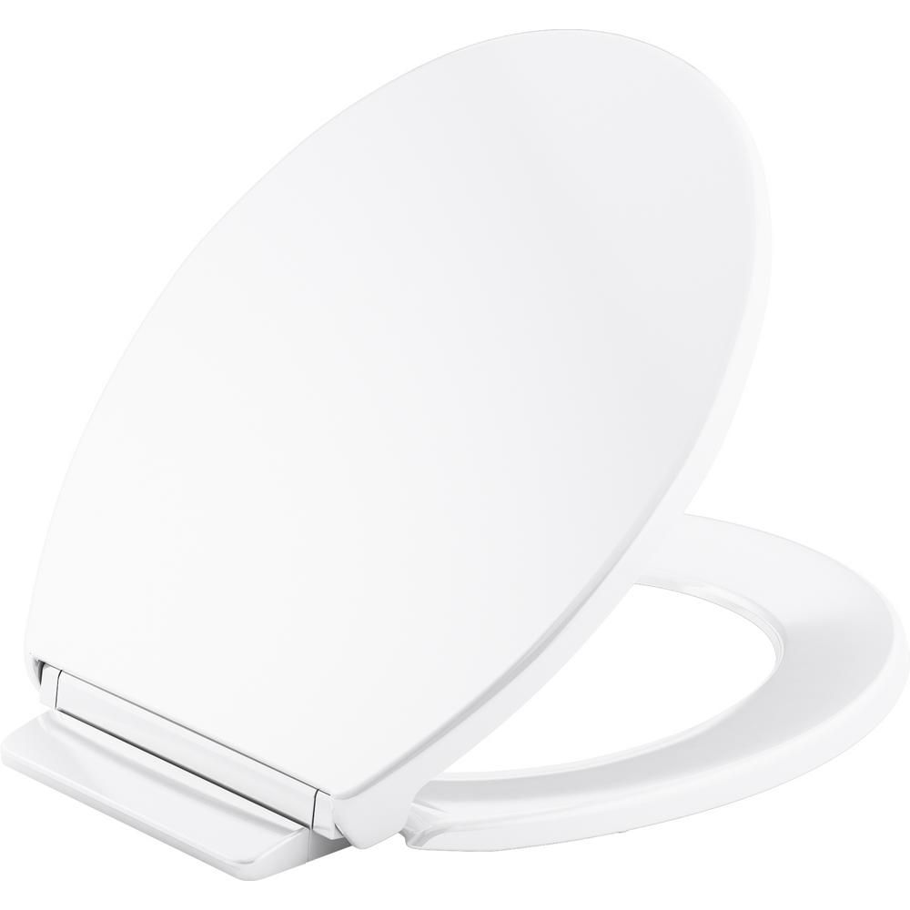 Miraculous Kohler Highline Round Closed Front Toilet Seat In White K Theyellowbook Wood Chair Design Ideas Theyellowbookinfo