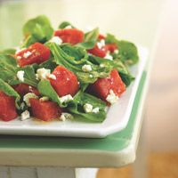 Watermelon with feta cheese -- this fresh, cool salad will be an all-day burst of flavor.