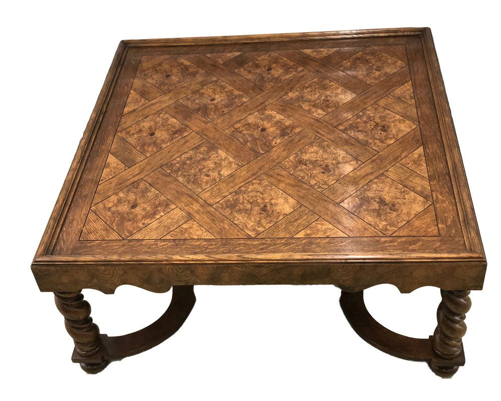 Baker Furniture French Country Coffee Table With Barley Twisted