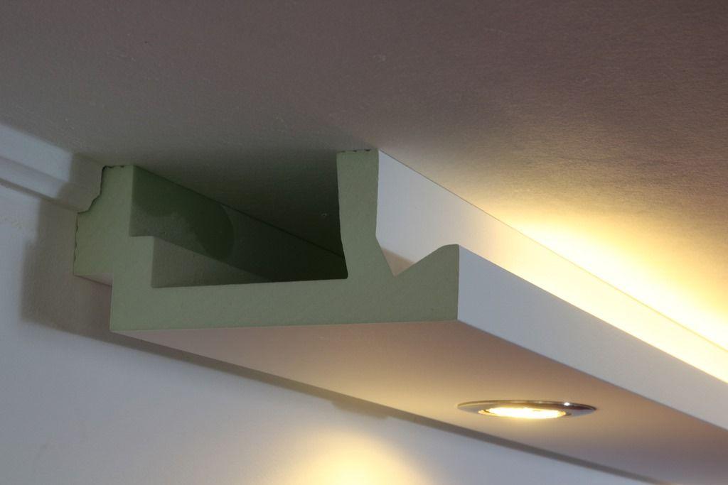 Stuckprofile für indirekte Beleuchtung - WDML-200A-PR   Wohnzimmer ...