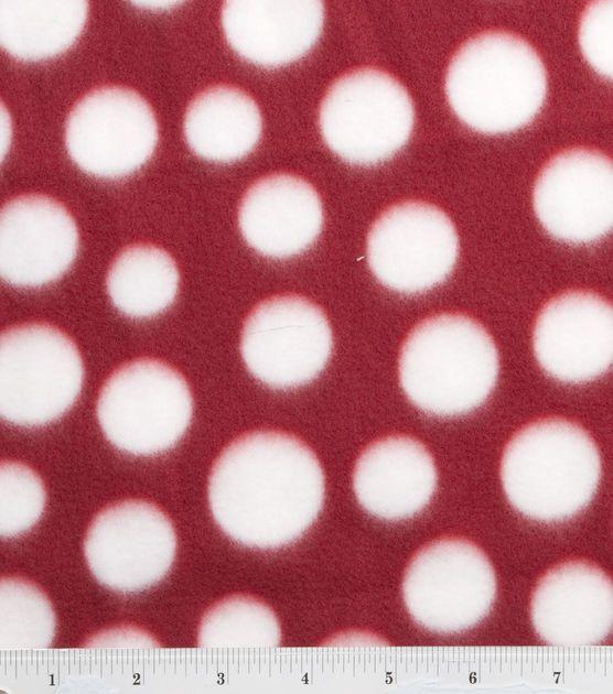 Blizzard Fleece Fabric-Red/White Dot