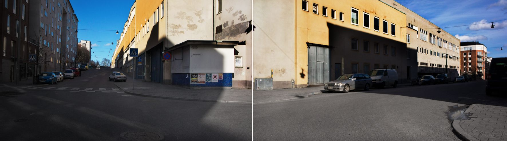 double-frame panorama. södermalm, stockholm.