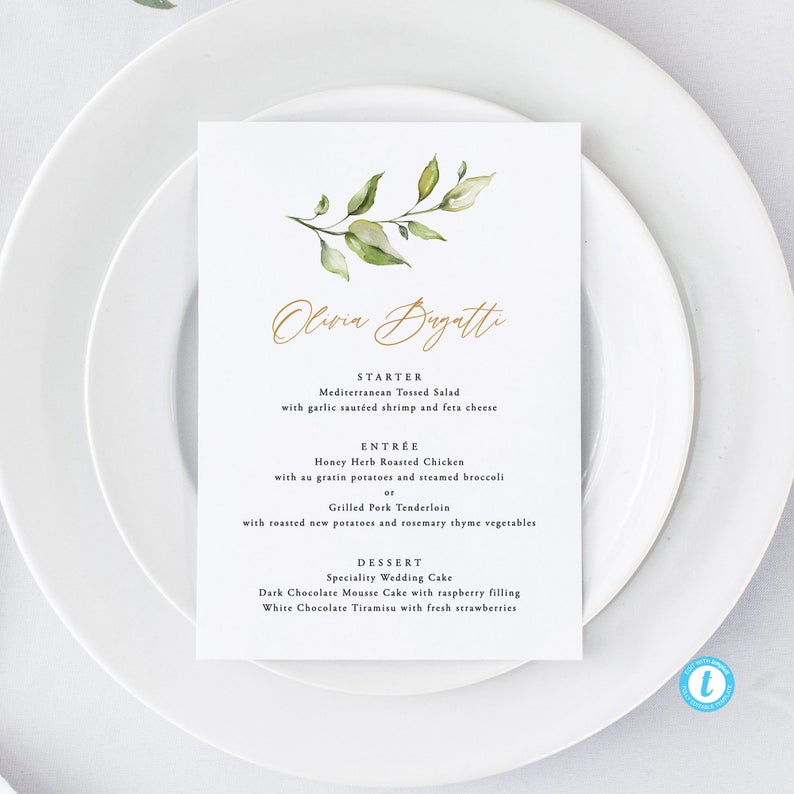 Personalized Wedding Menu Template Download Personalized Menu printable Place card menu Rustic Menu Printable Name Menu Cards 18 #weddingmenutemplate Personalized Wedding Menu Template Download Personalized Menu | Etsy #weddingmenutemplate