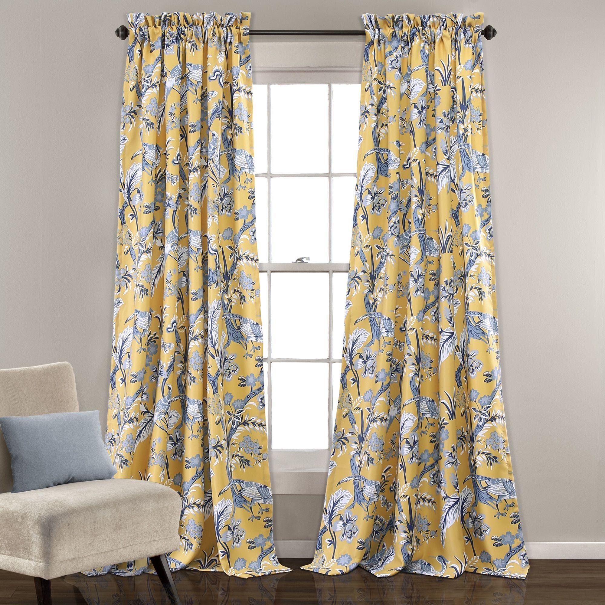 Lush decor dolores roomdarkening floral curtain panel pair room