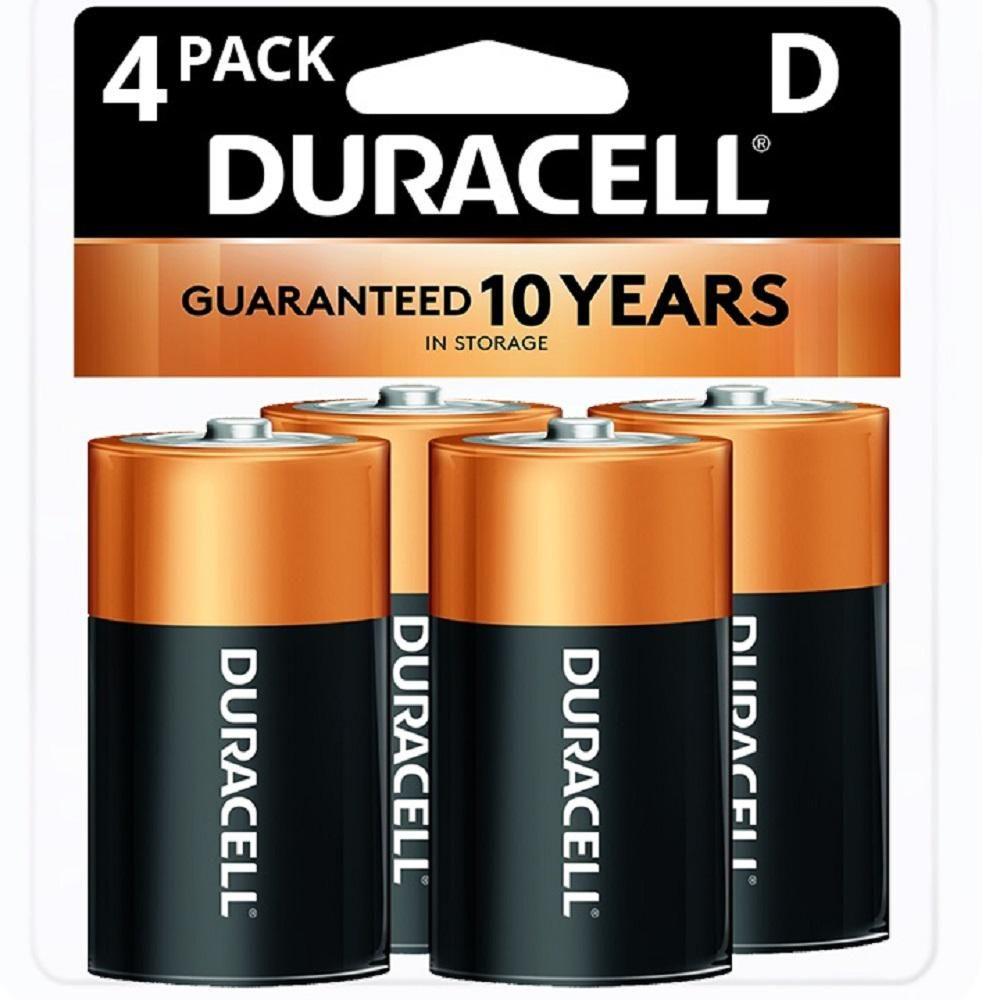 Duracell Coppertop Alkaline Size D Battery 4 Pack 004133303361 The Home Depot Duracell Batteries Duracell Alkaline Battery