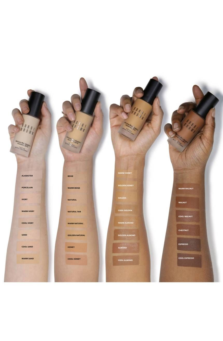 Swatches Of The Bobbi Brown Skin Foundation Tons Of Olive Friendly