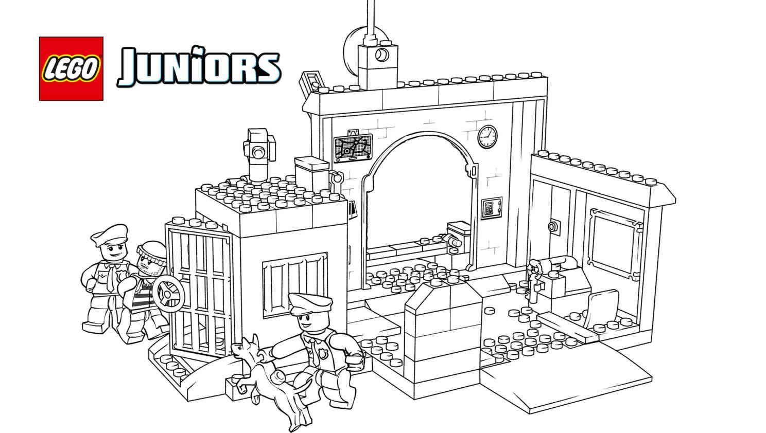 10675 Police The Big Escape 3 Coloring Pages Activities Lego Coloring Pages Lego Coloring Sheet Coloring Pages