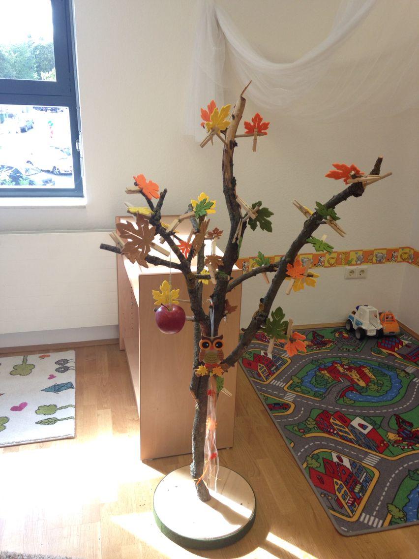 Jahreszeitenbaum montessori pinterest jahreszeitenbaum herbst und kita - Herbst bastelideen ...