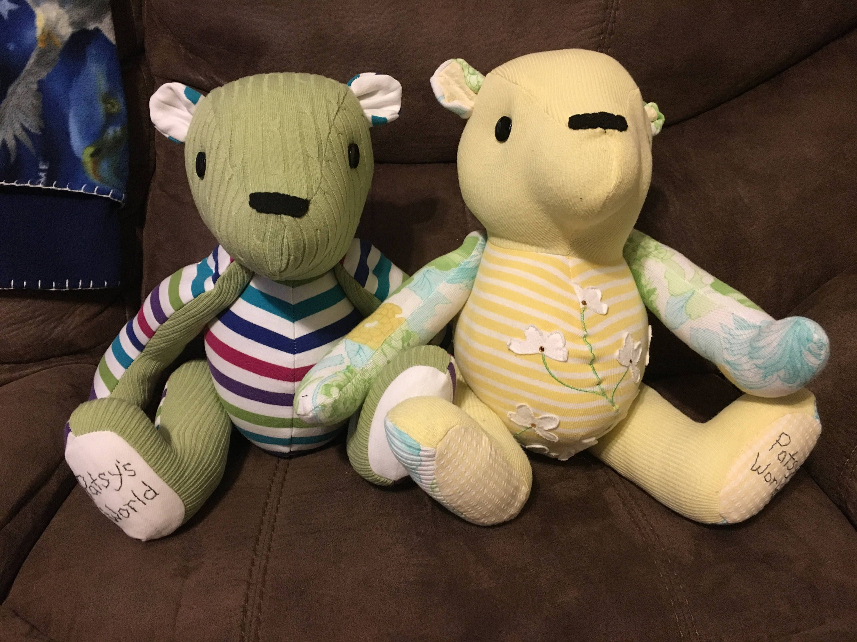 blankets Memory Bear Keepsakes made from clothing from your loved one
