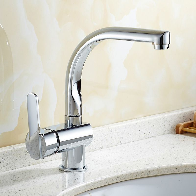 Donyummyjo Basin Faucet Bathroom Water Tap Solid Brass Chrome