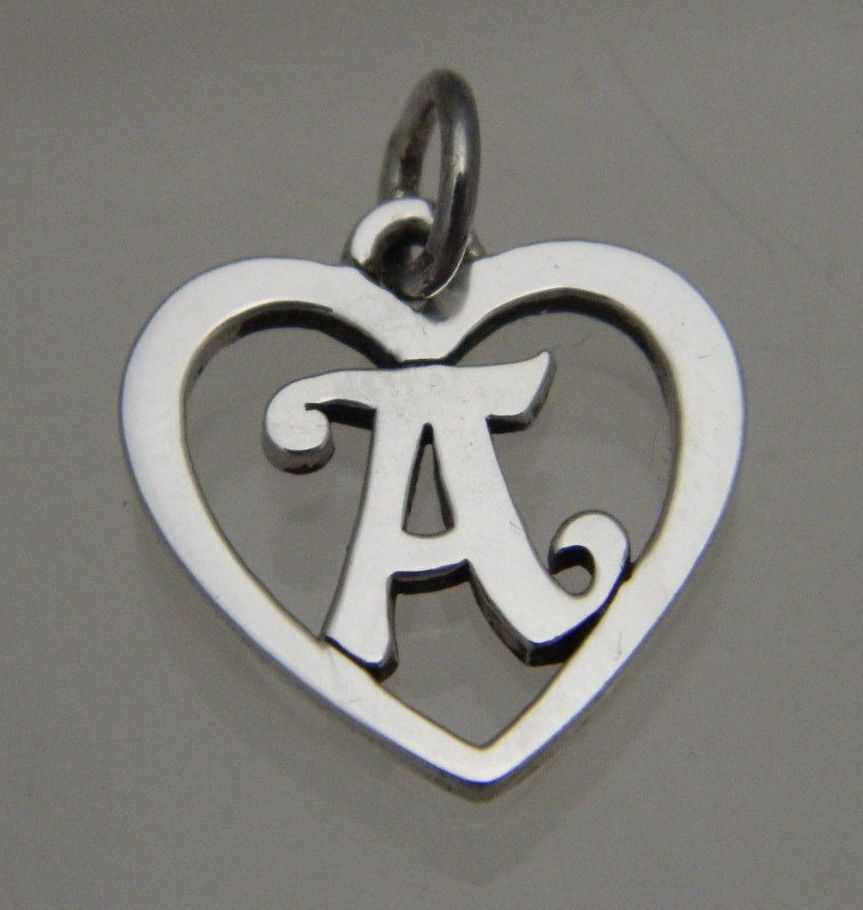 james avery sterling silver retired heart with initial With james avery necklace with letter