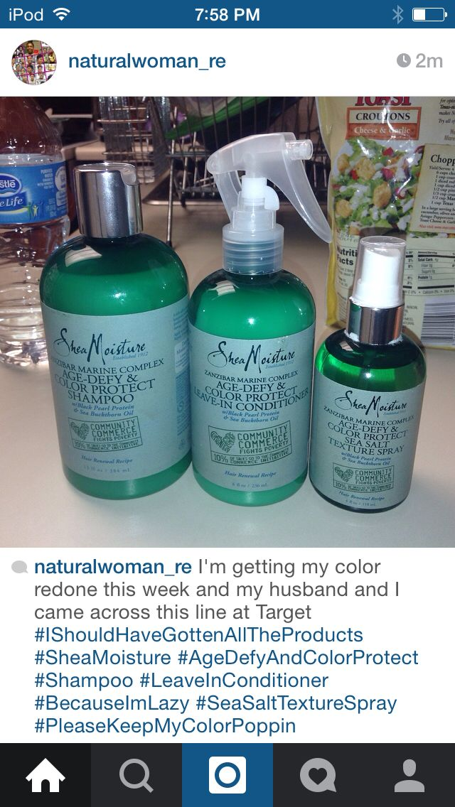 Products I from at Target from the Shea Moisture line for