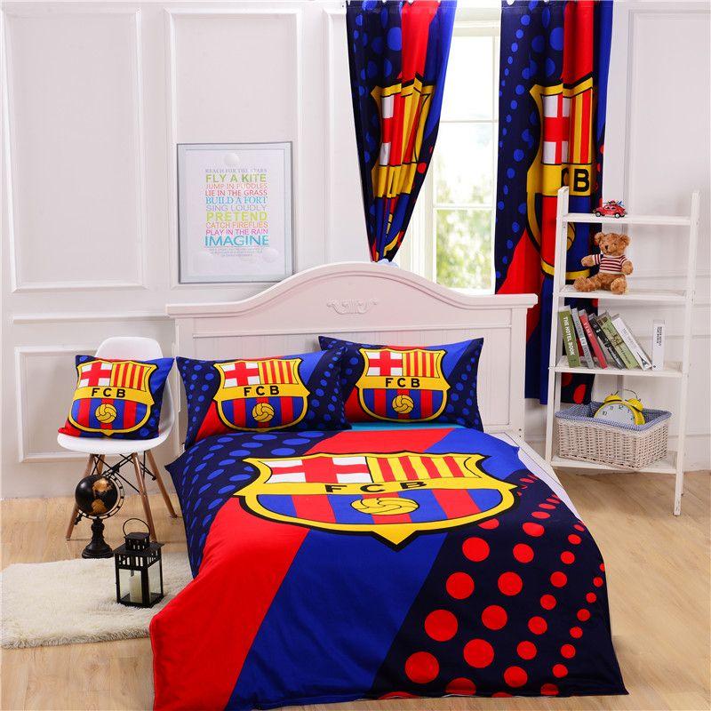 FC BARCELONA DUVET COVER SET 100/% COTTON NEW BEDDING