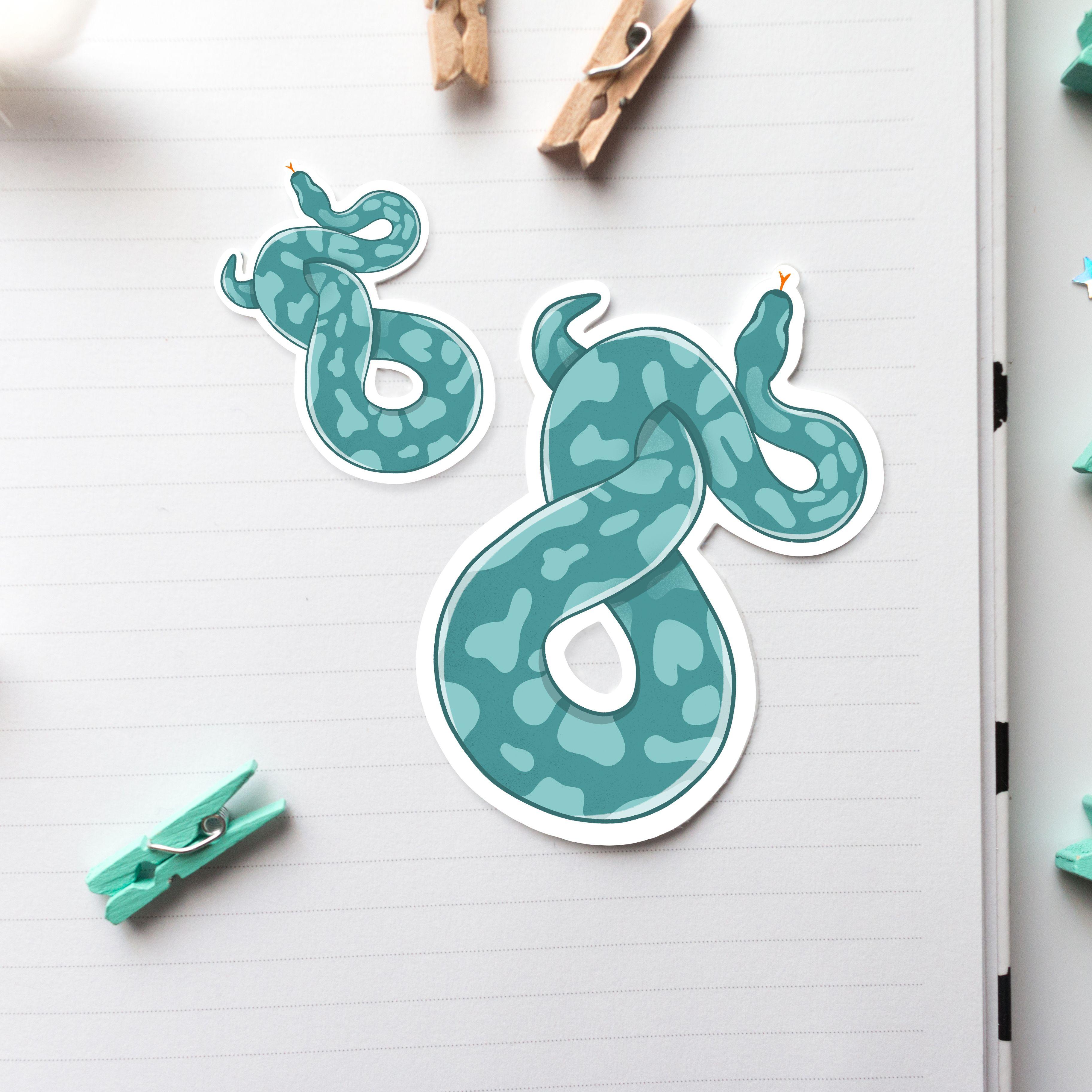 Snake Sticker Waterproof Ball Python Reptile Label Animal Etsy Snake Drawing Snake Art Snake Design [ 3648 x 3648 Pixel ]