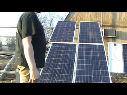 How To Install Solar Panels Using Unistrut Youtube Solar Panels Solar Panel Installation Solar