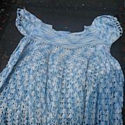 Childs Vintage Hand Crochet Dress