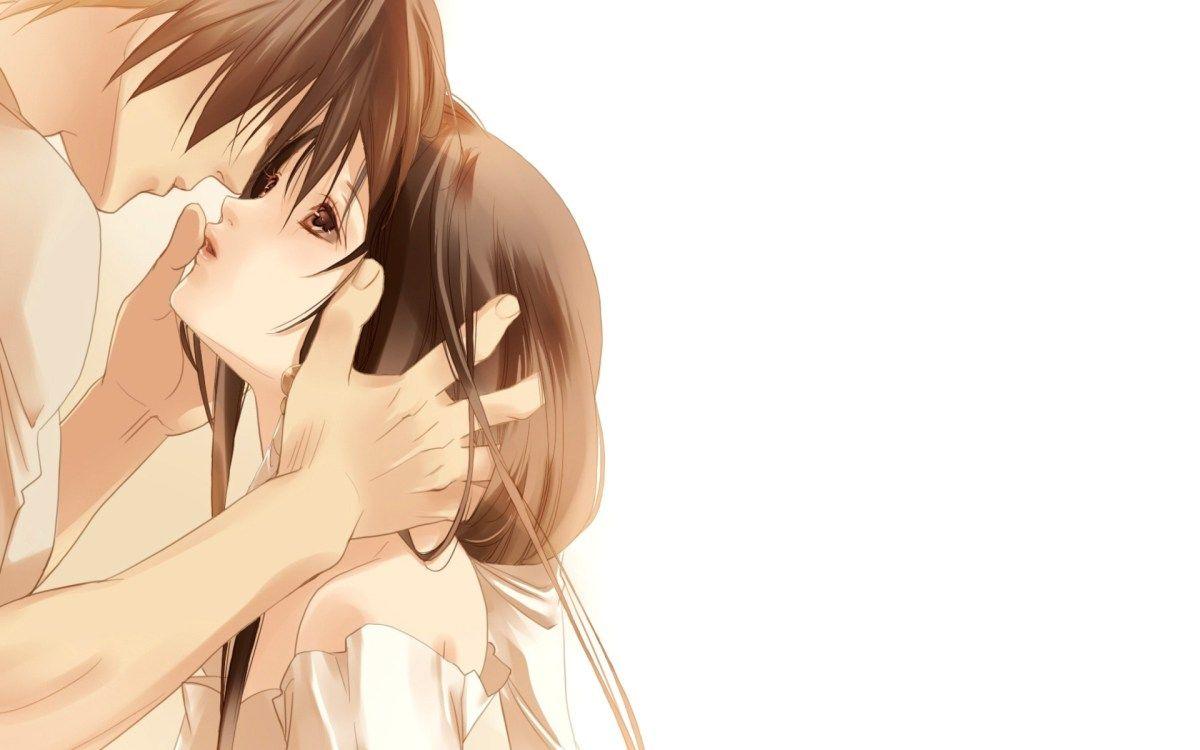 Beautiful anime couple kiss anime couple kiss anime couples wallpaper backgrounds