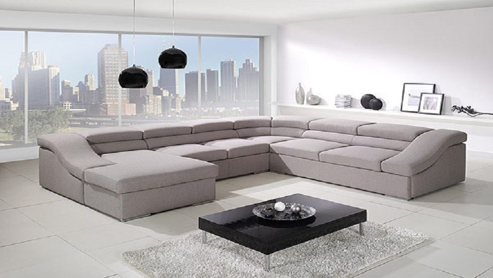 Double Corner Sofa With Pull Out Bed Adjustable Head Rests Questionable Comfort