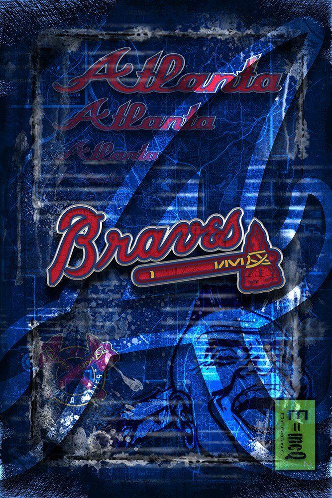 Atlanta Braves Baseball Poster Braves Print Atl Braves Gift Braves Gift Braves Man Cave Poster Atlanta Braves Baseball Braves Baseball Atlanta Braves Wallpaper