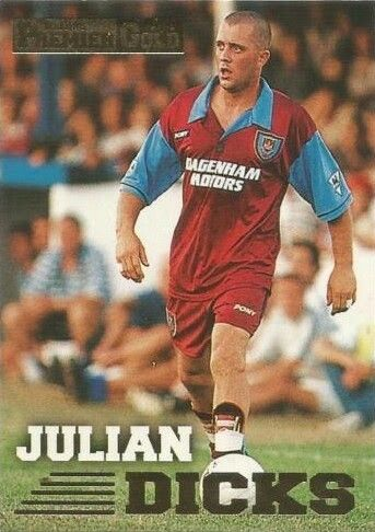Julian Dicks of West Ham in 1995.