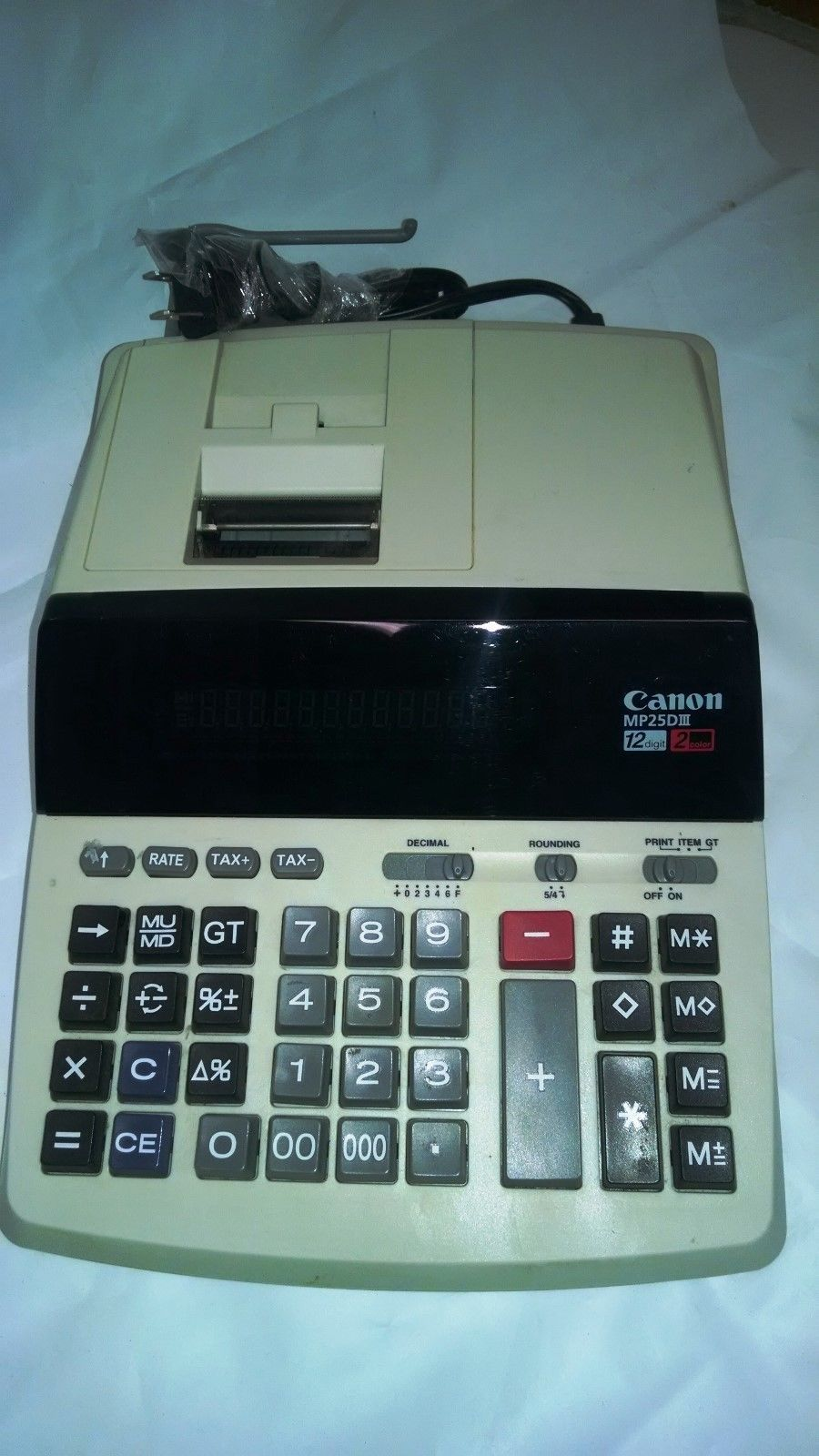 Canon MP25DIII 2 Color 12 Digit Printing Calculator Tested Working | eBay