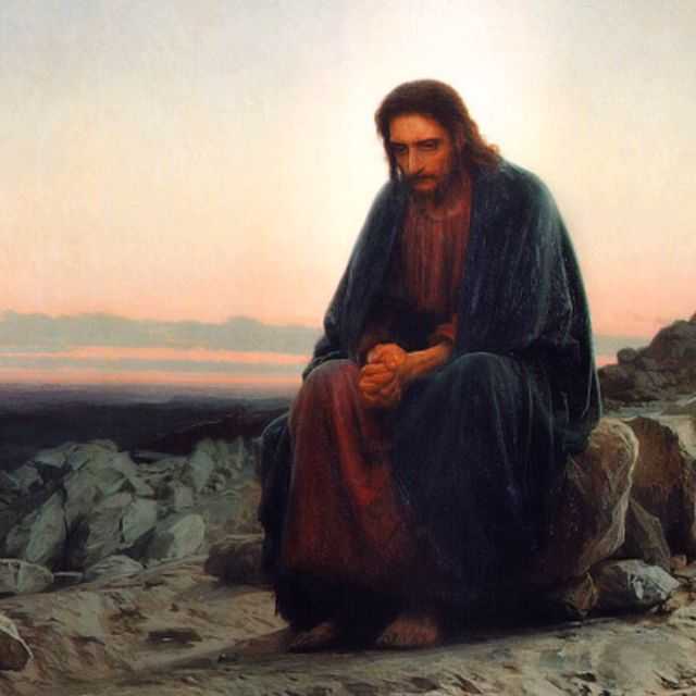 """Christ in the Wilderness"" Ivan Kramskoi, 1872"