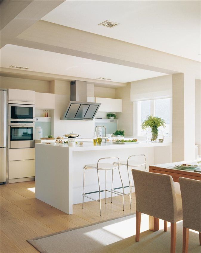 cocina con barra de desayunos y comedor_OK | Cocinas | Pinterest ...
