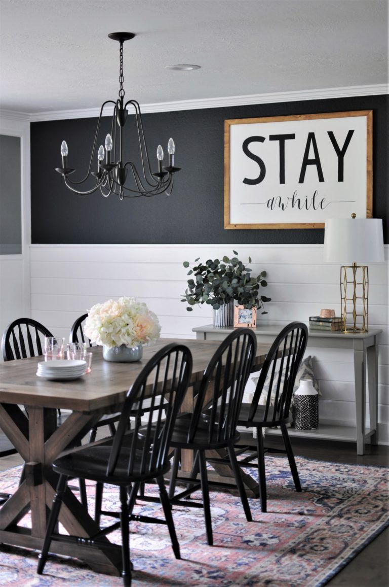 Blush Moody Dining Room Makeover Reveal Farmhouse Dining Room