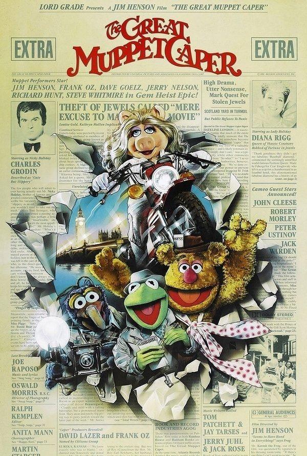 The Great Muppet Caper 1981 Muppets Carteles De Cine Y Poster De Peliculas