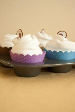 Embellished Babycakes onesie cupcakes