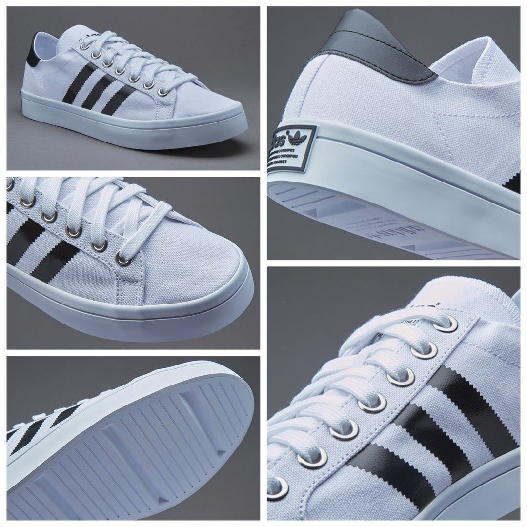 premium selection 31852 197d1 adidas Originals (Mens   Womens) Courtvantage - White   Core Black    Metallic Silver