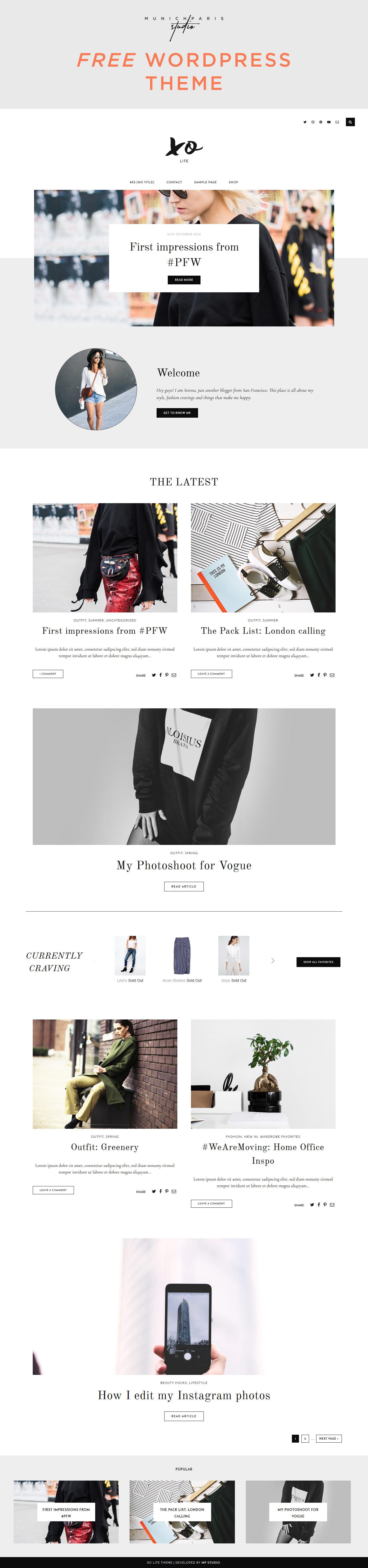 Free WordPress Theme XO Lite by MunichParis Studio We are