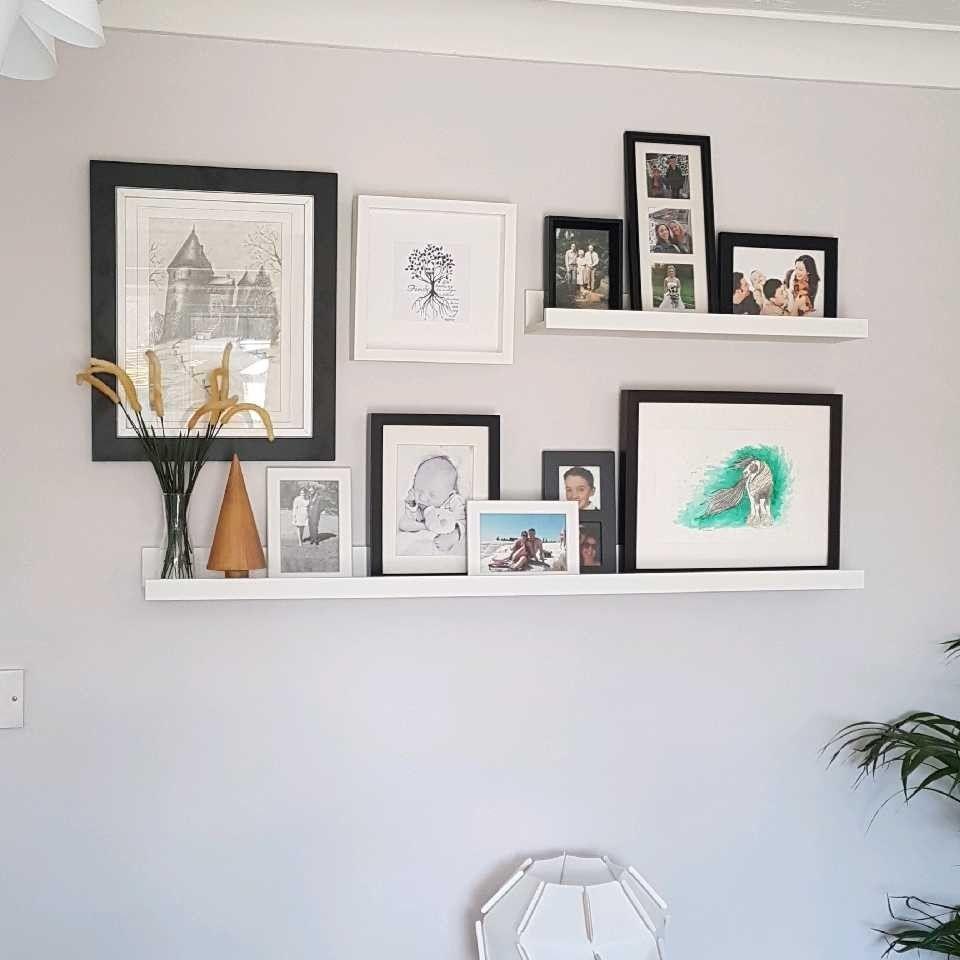 Picture Rail Shelf Ideas