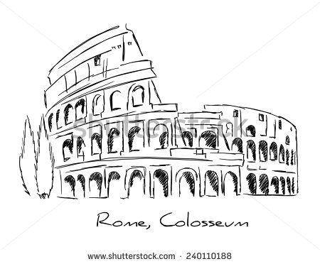rome colosseum colosseo pen pencil hand drawing