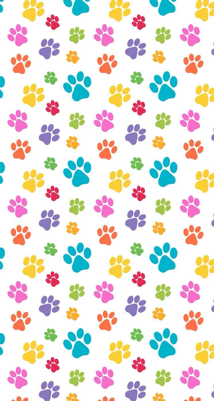 pets Paws print pattern colorful cute design wallpaper ...