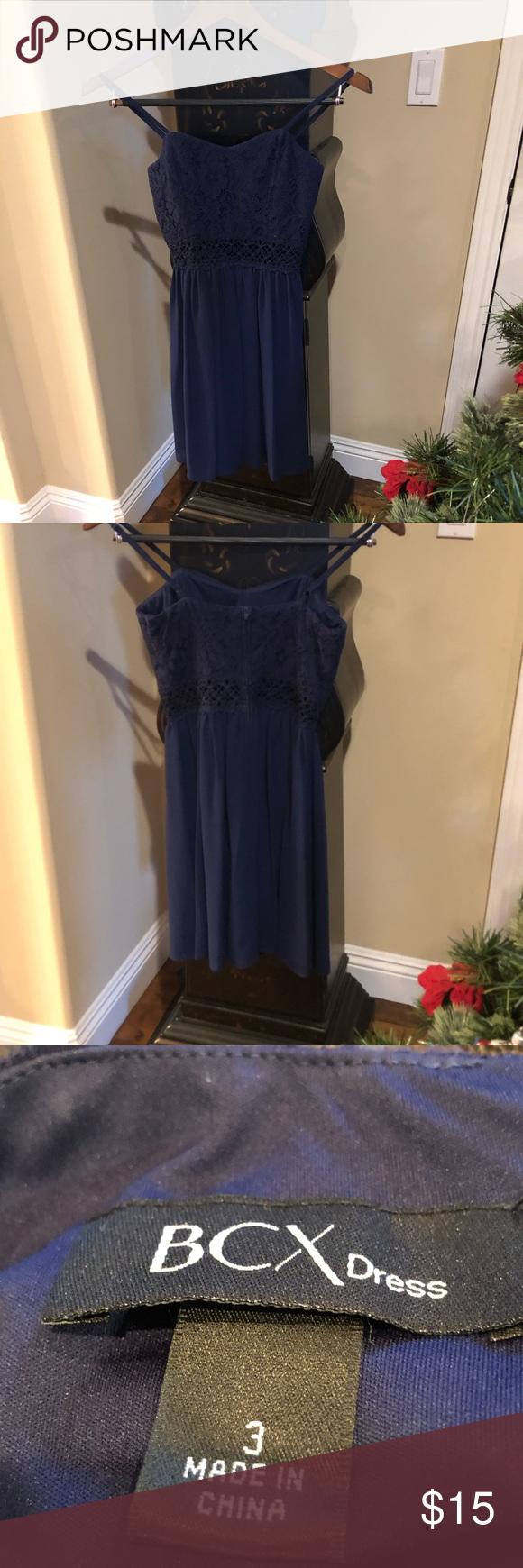 Kleid Dunkelblaues Kleid, ideal für einen Schultanz oder einen Abendkleider …   – Bestrecipes