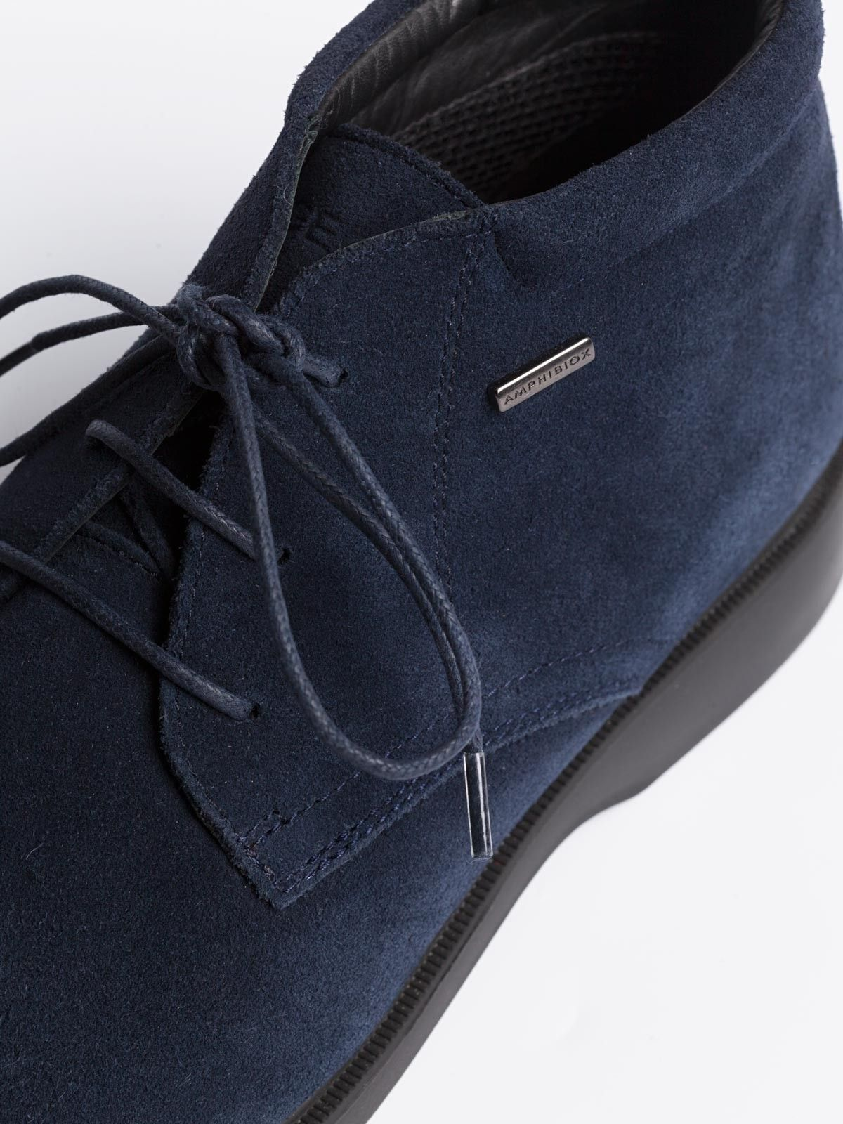 6d5a97e3b5 Geox Waterproof Suede Chukka Boots in Navy - A Suede chukka boot is the  off-duty staple shoe for the city slicker and retired Colonel alike.