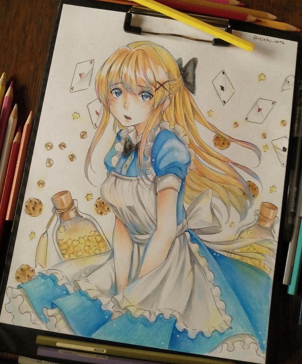 Yoroshikuu minna!! ヽ(´ `). Here's Alice ⊙﹏⊙ in my artstyle