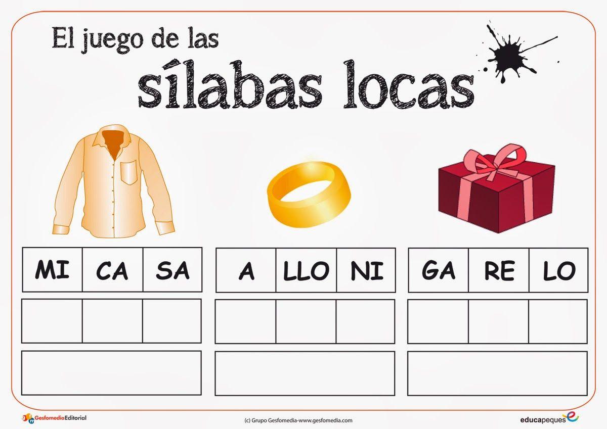 Silabas Locas Para Imprimir Cerca Amb Google Silabas Silabas Para Imprimir Juegos De Alfabetización