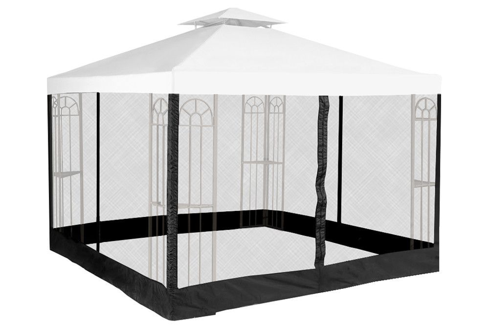 Great For Riplock Universal 10 X 10 Two Tiered Replacement Gazebo Canopy And Netting Set Green Furniture 149 99 Topfurniturestore From Top Store
