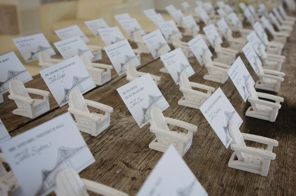 Great for beach lawn weddings Use flat cards or business card