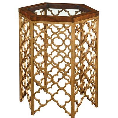 EMERSON BENTLEY - Style: 10131 - Gold Leaf End Table Overall Dimensions: 20 x 20 x 24H