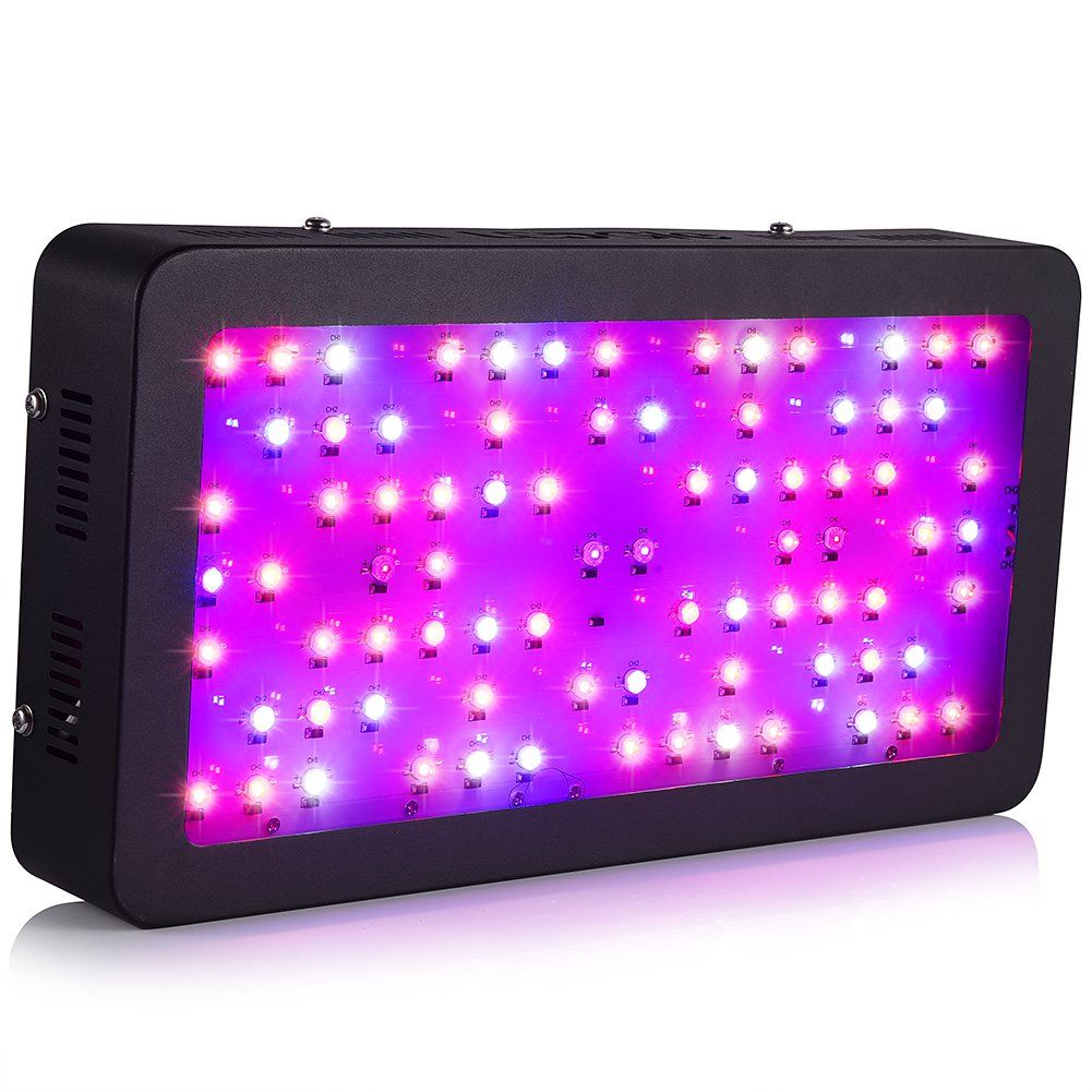 Ledgle LED Grow Light 400W Full Spectrum Led Plant Light 80X5W with UV and IR for Hydroponic Indoor Greenhouse Garden Plant Growing Flowing