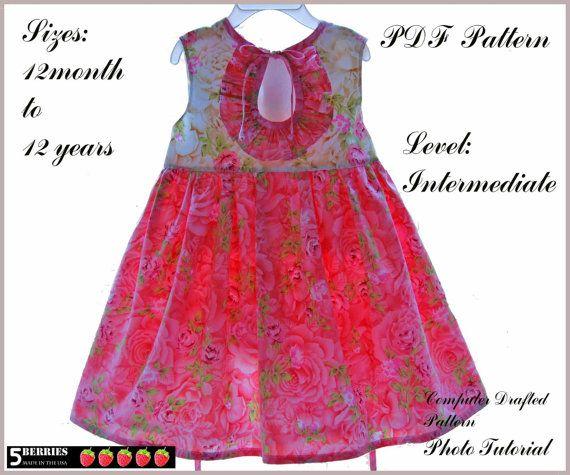 Eloise Girls DRESS PATTERN + Free Mother-Daughter Apron Pattern, PDF ...