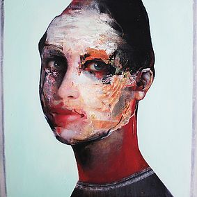 Caroline Westerhout | I Love You | Oil on canvas | 70 x 70 cm | Art Gallery AFK, Lisbon