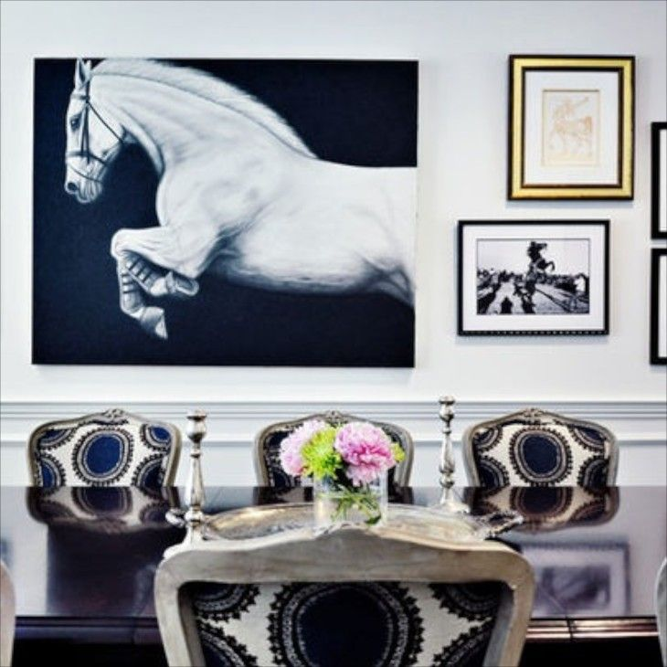 Equestrian Inspired Decor For The Love Of Horses Dining Room
