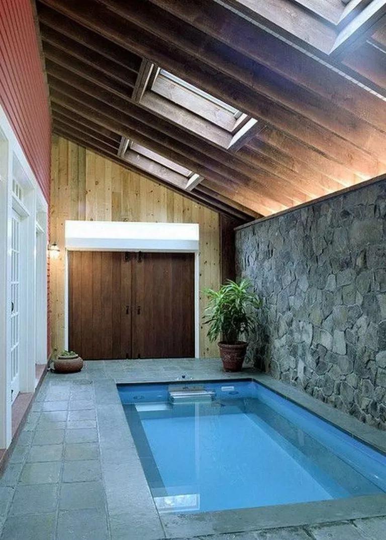 55 Inspiring Pool House Design For A New House 45 Small Indoor Pool Indoor Swimming Pool Design Indoor Pool Design