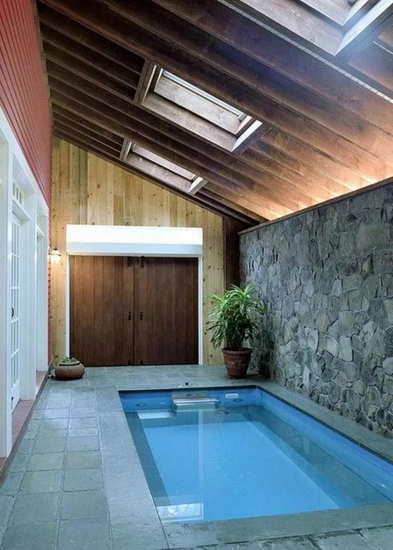 55 Inspiring Pool House Design For A New House 45 Fieltro Net Piscina Interna Casas Com Piscina Casa De Arquitetura