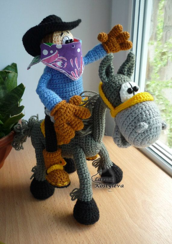 Cowboy Amigurumi Crochet Pattern By Jasminetoys On Etsy Haken